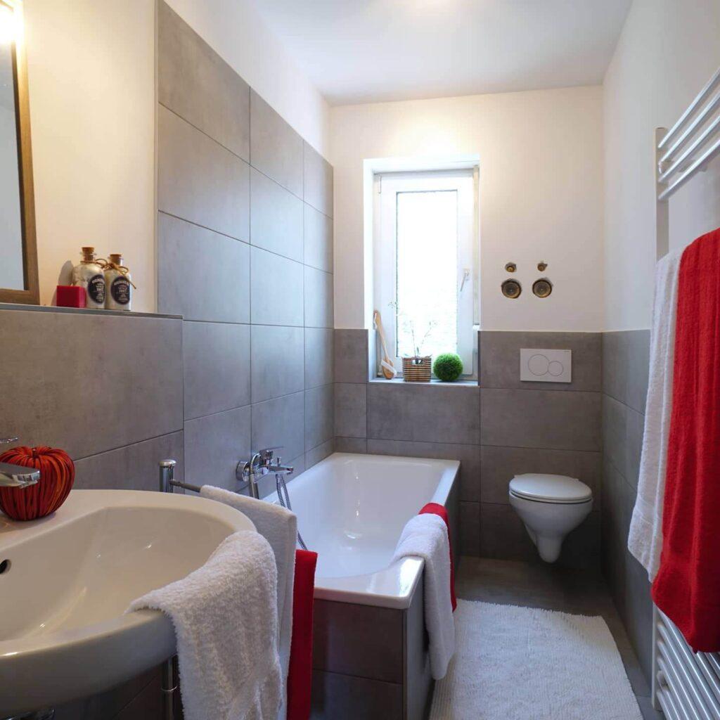 Renovierung Nachherbild Nachher Bild Bad Badewanne