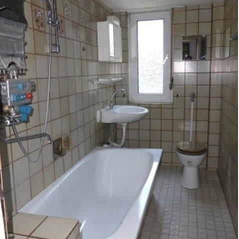 Renovierung Vorherbild Vorher Bild Bad Badewanne