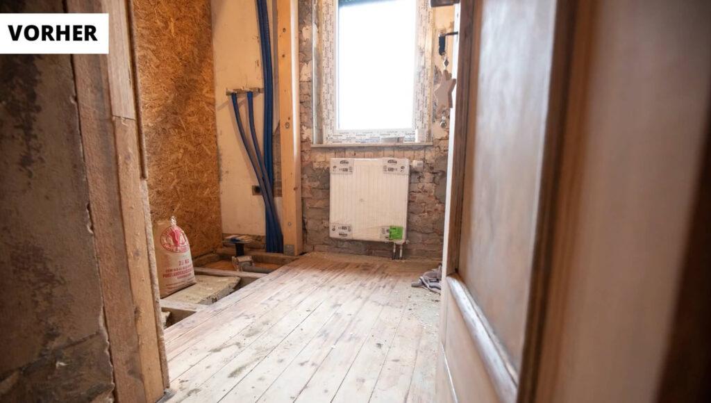 Renovierung Vorherbild Vorher Bild Badezimmer