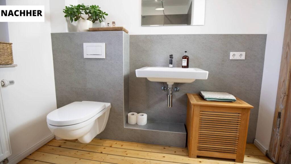 Renovierung Nachherbild Nachher Bild Badezimmer
