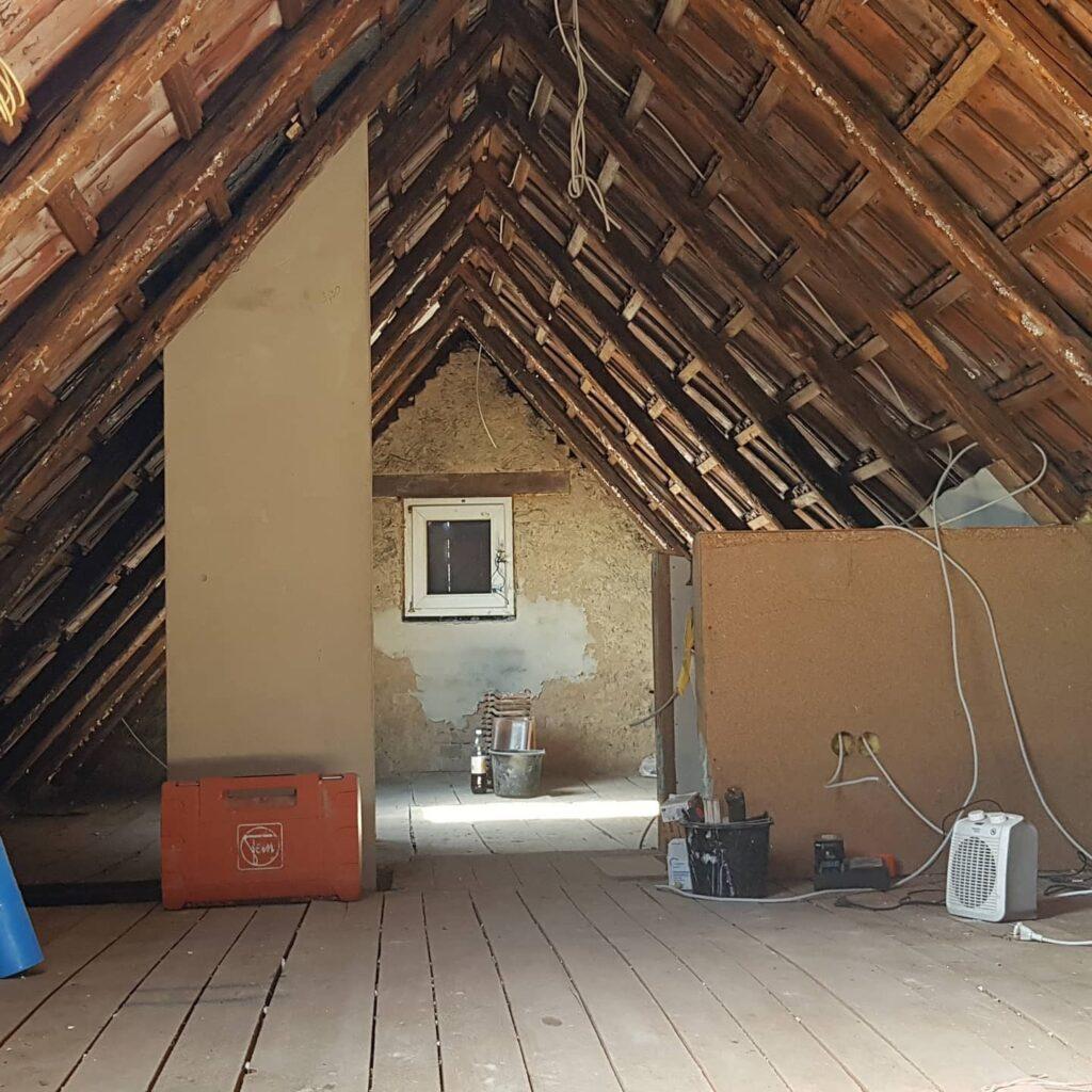 Renovierung Vorherbild Vorher Bild Dachboden