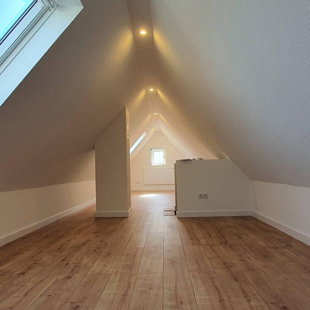 Renovierung Nachherbild Nachher Bild Dachboden